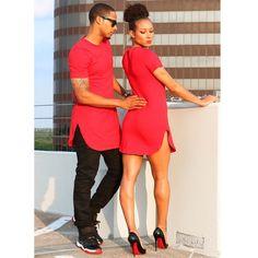 When his Shirt becomes her dress!!!! ❤️ I loooooove this Boyfriend T-Shirt Dress in… Ferrari Red