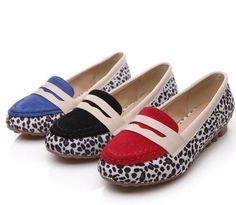 ENMAYER 2104 fashion leopard round toe flat shoes comfortable women's shoes Europe and America version of lady flats $51.13