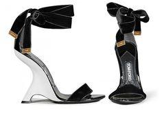 TOM FORD White & Black sandals.