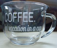 Etched 18 oz Coffee Mug Cup with Coffee Definition  by JuliesHeart