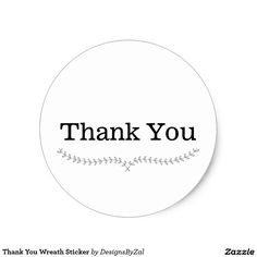 Thank You Wreath Sticker