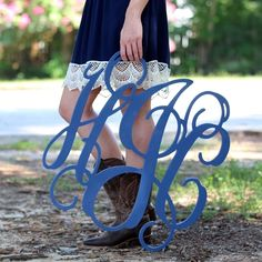Wooden Monograms from Marleylilly.com