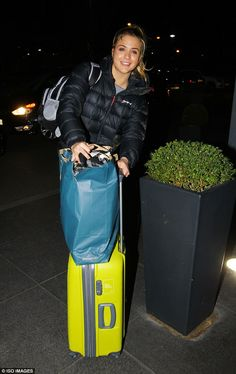 Brave face: Gemma Atkinson was seen toting suitcases through London on Thursday night, amid claims she was messaging Simon Rimmer Simon Rimmer, Gemma Atkinson, It Takes Two, Thursday Night, Suitcases, Girl Pictures, My Images, Brave, Glamour