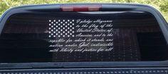 American flag pledge of allegiance vinyl truck window sticker decal  | eBay
