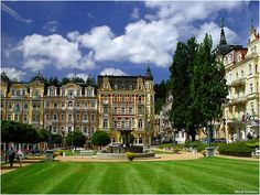 Marianske Lazne, Czech Republic. Like stepping back in time. Spa town with healing waters. We stayed at The Palace Hotel. They have a great spa. In the evenings there's a fountain in the main square that does a light & music show.