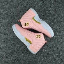 "b4ffa6510 2017 Air Jordan 12 GS ""Pink Lemonade"" Pink White-Gold Online"