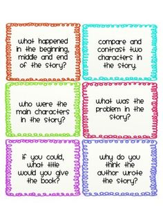 Guided Reading Response Cards FREE