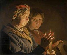 Senhora idosa e menino à luz de vela Mathias Stom (Holanda(?) Bélgica (?), c. 1600 — depois de 1652) óleo sobre madeira, 58 x 71 cm Birmingham Museums Trust, Birmingham, Inglaterra