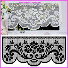 Elegant Filet Crochet Tablecloth For Mod - Diy Crafts - DIY & Crafts Crochet Patterns Filet, Crochet Lace Edging, Crochet Borders, Crochet Diagram, Crochet Designs, Crochet Doilies, Easy Crochet, Crochet Stitches, Knit Crochet