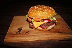 Burger à la Big Tasty Bacon, ein raffiniertes Rezept aus der Kategorie Gemüse…