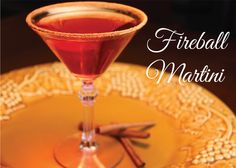 Apple Cranberry Fireball Martini -tastes better than vodka martinis and is perfect for the fall and holiday season. #fireball #recipe #martini
