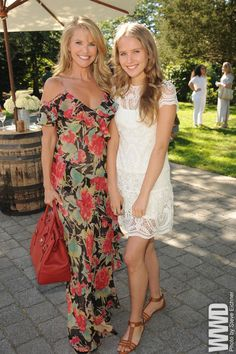 Christie Brinkley with her daughter Sailor at the Ralph Lauren Girls' Fall Runway Show.  WWD