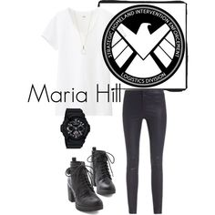 Agent Hill by el0723 on Polyvore featuring polyvore, fashion, style, Uniqlo, J Brand, G-Shock and Accessorize