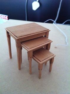 Nesting tables Nesting Tables, Stool, Miniatures, Coffee, Furniture, Home Decor, Kaffee, Decoration Home, Room Decor