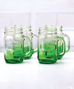 Love this Green Yorkshire Ombré Glass - Set of Four on #zulily! #zulilyfinds