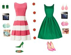 """""""Pink and Green"""" by ersculati ❤ liked on Polyvore featuring interior, interiors, interior design, home, home decor, interior decorating, Kate Spade, Margaret Elizabeth, Burberry and Eos"""