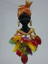Askew london blackamoor/nubian girl brooch Item image