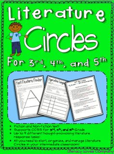 Literature Circles are a great way to support learning toward ELA CCSS!  Everything you need to introduce, organize, and manage Literature Circles in your classroom! $