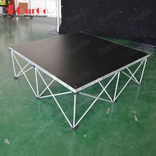 TourGo Manufacturers Portable Stage with Aluminium Stage Leg Riser for Indoor Stage Rental