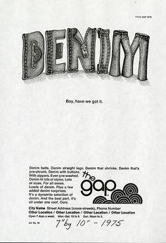 Gapブランド誕生45周年。45年前のGapの広告はこんなデザインでした。