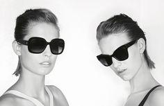 Nadja Bender + Ashleigh Good Front Chanel Prestige Eyewear Ads by Karl Lagerfeld