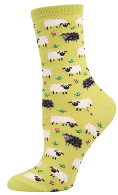 Socksmith Women's Novelty Crew - Black Sheep - Cotton/lycra Blend