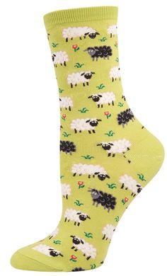 Socksmith Women's Novelty Crew - Black Sheep - Cotton/lycra Blend