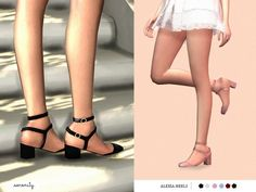 The Sims Resource: Alexa Heels by serenity-cc • Sims 4 Downloads