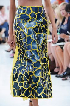 Delpozo Spring 2015- links to the crocodile leather texture ive been looking at
