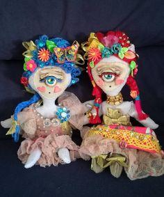 Rag doll Handmade naive Cyclope Sevilla forest fairy One of a kind. ROCIO