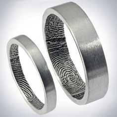 Fancy - Fingerprint Inside Personal Wedding Rings by Brent & Jess