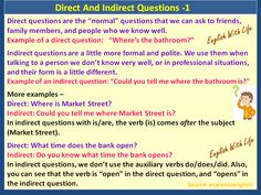 Direct and Indirect Questions 1