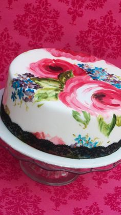 Painted Rose Cake by Mimosa Bakery