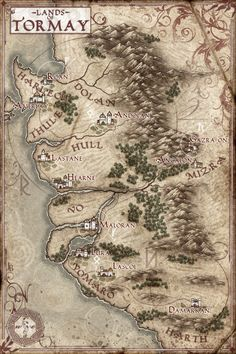 The Lands of Tormay Map by Stormcrow135.deviantart.com on @deviantART