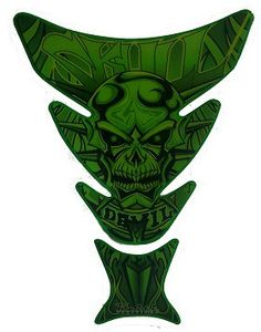 Motorcycle Tank Pad Green Skull Style - L D Motorcycles – L D Motorcycles - Aftermarket Motorcycle parts and accessories
