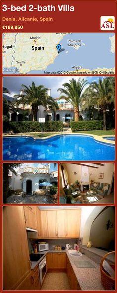 3-bed 2-bath Villa in Denia, Alicante, Spain ►€189,950 #PropertyForSaleInSpain
