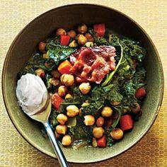 Kale Recipes: Garbanzo Beans and Greens Recipe | CookingLight.com