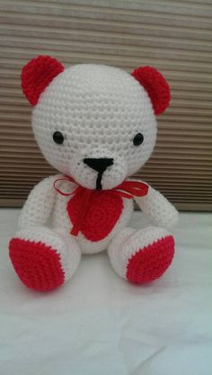 Check out this item in my Etsy shop https://www.etsy.com/listing/218975358/amigurumi-red-heart-teddy-bear