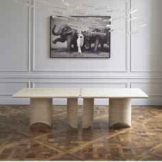 Discover the dining tables crafted by Carpenters Workshop Gallery's artists. Woodworking Projects For Kids, Woodworking Desk, Custom Woodworking, Woodworking Chisels, Woodworking Classes, Furniture Plans, Table Furniture, Home Furniture, Luxury Interior Design