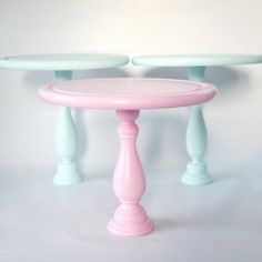 Hand-made cake stand tutorial using a candle stick holder and bread board