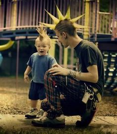 Cute Punk Kid Liberty spikes Mohawk