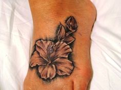 Hawaiian Tatoos   Pin Hawaiian Flower Foot Tattoo Tattoos For Women on Pinterest