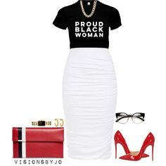 A fashion look from May 2016 featuring Christian Louboutin pumps, Tomasini clutches and Chanel watches. Browse and shop related looks.