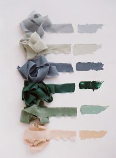 Hand-dyed silk ribbon by Tono + co.