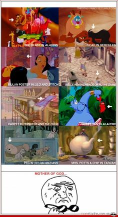 Mother of god. I've noticed the hercules and aladdin ones but the other ones. Whoa mind=blown.