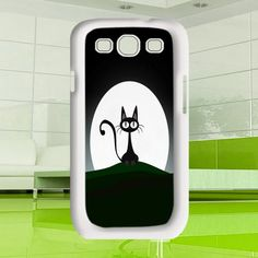 cats at night Samsung Galaxy S3  black / white case by MuliasCraft, $16.00 Hermes Handbags, Handbags Michael Kors, Coach Handbags, Louis Vuitton Handbags, Galaxy S3 Cases, Samsung Galaxy S3, Iphone 4, Black And White, Night