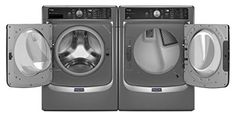 27 Inch 4.5 cu. ft. Front Load Washer with 11 Wash Cycles, 1,400 RPM, Steam, PowerWash, #Sanitize Cycle, #Overnight Wash and Dry, Optimal Dose Dispenser, Advanced...