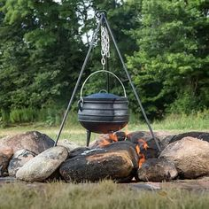 Find Cast Iron Campfire Kettles at Lehman's. Specially-designed cast iron kettles will give meals steamy, succulent flavor. Perfect for campfire cooking!