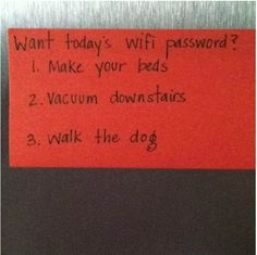 Best Idea For Parents Of Internet-Addicted Teenagers // OH HELL YES you know that my kids will be as technologically addicted as I am, and I will totally use this on them XD