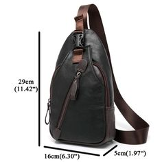 Men Retro PU Leather Crossbody Bag Capacity Leisure Shoulder Chest Bag is worth buying - NewChic Mobile version.
